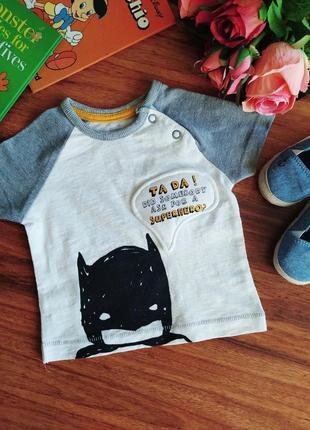 Классная трикотажная футболка batman на парня george 3 месяца.
