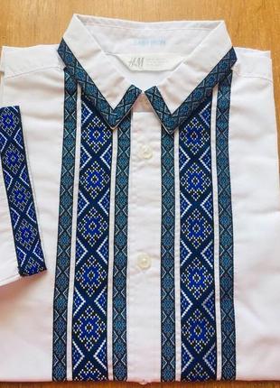 Вышиванка, вишиванка, летняя рубашка с коротким рукавом