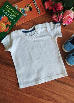 Классная трикотажная лёгкая футболка george на 3 месяца.