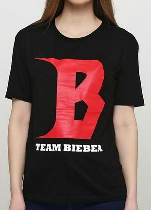 Яркая оригинальная футболка h&m by divided justin bieber made in turkey, с биркой