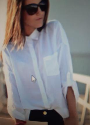 Шикарная белая рубашка