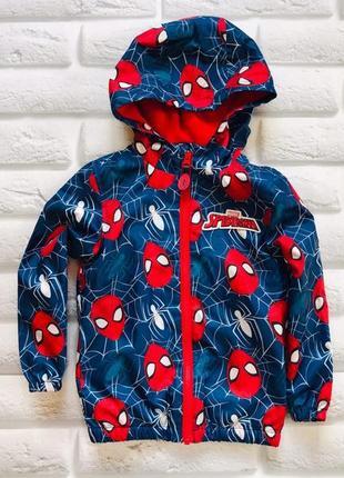 George стильная куртка- ветровка на флисе на мальчика 3-4 года