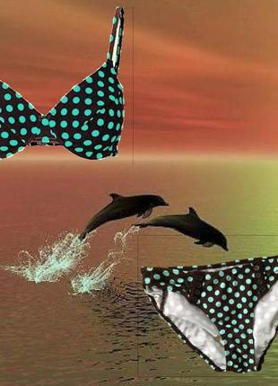 #sale до 17.07.! раздельный купальник бикини в горох, комплект бикини в горошек классика