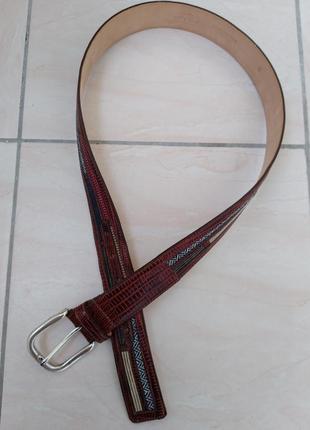 Etro кожаный ремень с рисунком.