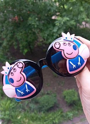 Polarized крутые стильные круглые очки для девочки свинка пеппа антиблик гибкая оправа