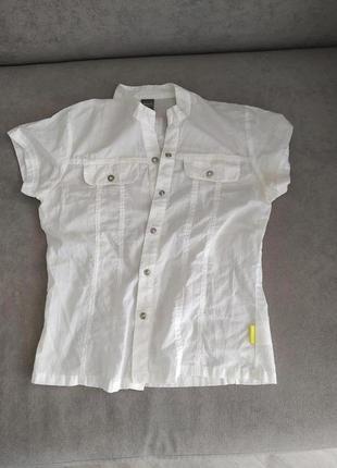 Лёгкая хлопковая рубашка на девочку