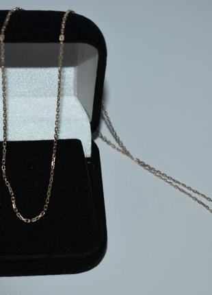 Изящная мини цепочка плетение серебро 925 проба позолота вес 2,1 грамма