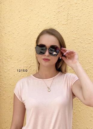 Черные солнцезащитные очки с поляризованной линзой к.12150