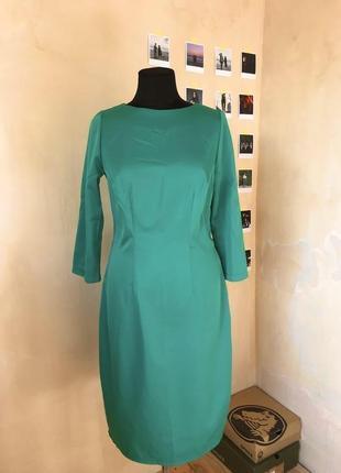 Атласное платье миди ручной работы
