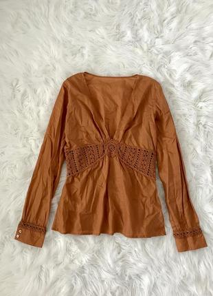 Легкая хлопковая блузка s/m италия 🇮🇹