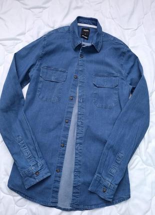 Джинсовая рубашка burton menswear london