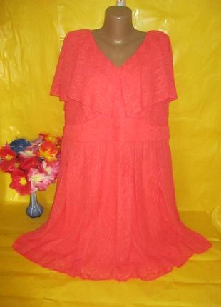 Очень красивое женское платье на пышные формы simply be (симпли би) рр 22 грудь 60 см