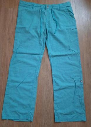 Красивейшие бирюзовые брюки размер 52-56, идеальны для полных ног.