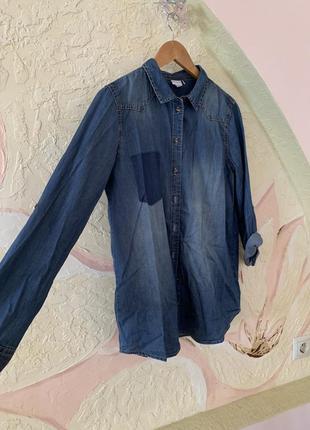 Джинсова сорочка/джинсовая рубашка