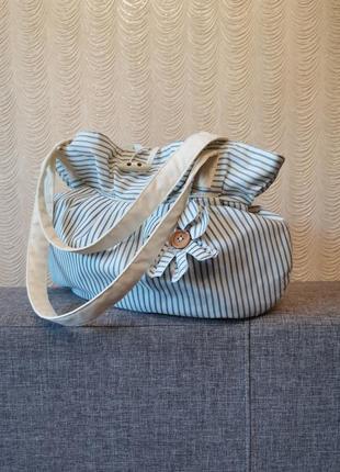 Сумка текстильная тканевая сумка багет текстиль шопер тоут