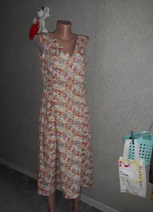 Платье миди хлопок плаття сукня халат s/m