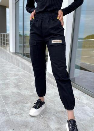 Женские черный джинсы джоггеры