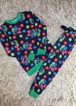 Пижама тонкая герои в масках  для мальчика 3-7 лет