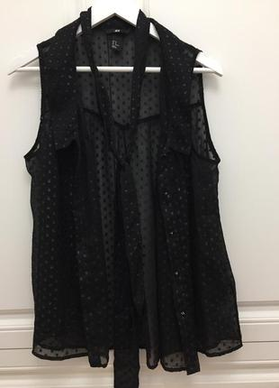 Летняя блуза чёрного цвета