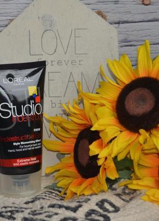 Гель для волос сильной фиксации l'oreal paris studio indestructible gel strong hair gel