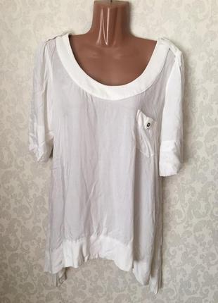 Белая кофточка блузка белого цвета