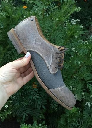 Стильные,комбинированные туфли,кожа100%,rockport by adidas,42 р/29 см