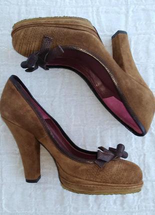 Замшевые туфли tj collection