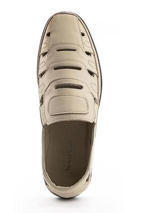Туфли / босоножки / сандалии мужские белые кожаные натуральная кожа летние
