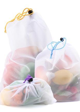 Мешочки для продуктов 5 шт, сумка авоська
