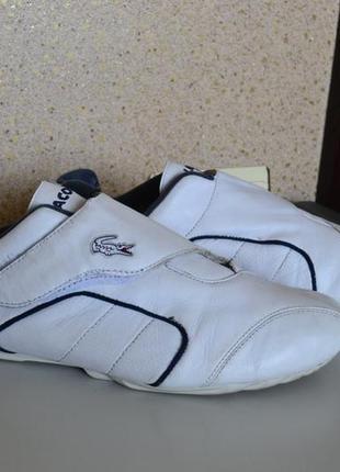 Lacoste кожаные мужские кроссовки на липучках