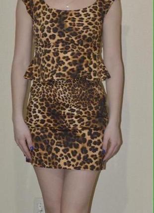 Платье zara, тигровый принт