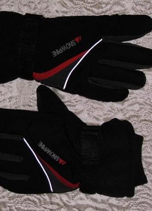 Snowpine xl - перчатки горнолыжные черные