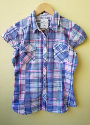 Хлопковая рубашка в клетку h&m