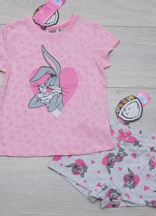 Костюм летний футболка и шорты looney tunes  pepco польша 116 размер