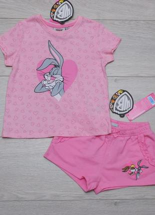 Костюм летний футболка и шорты looney tunes pepco польша 110 размер