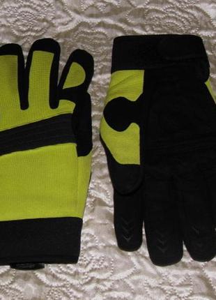 Крутые велоперчатки из комбинированных тканей - 11 размер
