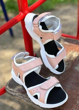 Сандали кожаные розовые натуральная кожа