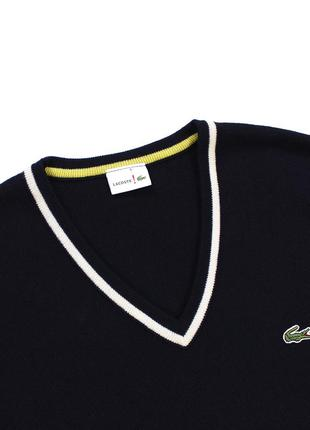 Lacoste live чудовий светр з v-подібним вирізом