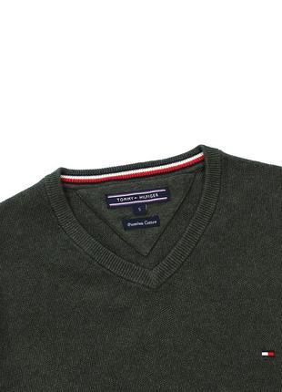 Tommy hilfiger premium cotton светр з v подібним вирізом