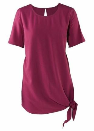 Блуза-туника esmara лёгкая ,вискоза ,с коротким рукавом