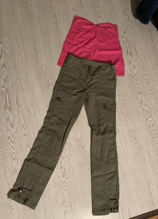 Крутые брюки хаки защитного цвета next
