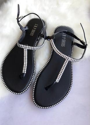 Силиконовые босоножки сандали чёрные