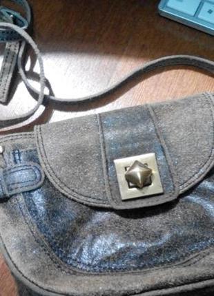 Стильная сумочка с эффектом состаривания кожа 100 %