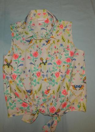 Блузка модная легкая на девочку 10 лет