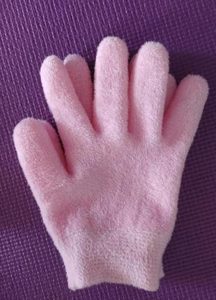 Силиконовые перчатки пропитанные розовым масло