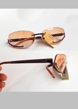Стильные имиджевые очки без оправы узкая модель