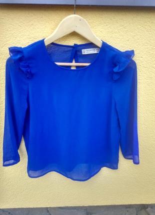 Шикарна синя блузка s pull and bear блуза рубашка сорочка
