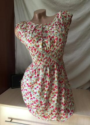 Сарафан на лето на резинке / платье в цветочки
