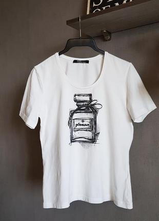 Стильная брендовая белая футболка betty barclay, германия
