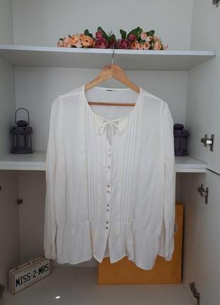 Нежная блузка из вискозы длинный рукав